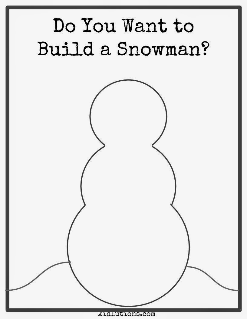 Do You Want to Build a Snowman? #Freebie #Printable