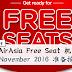 AirAsia Free Seat 机票终于又来了!准备抢购~