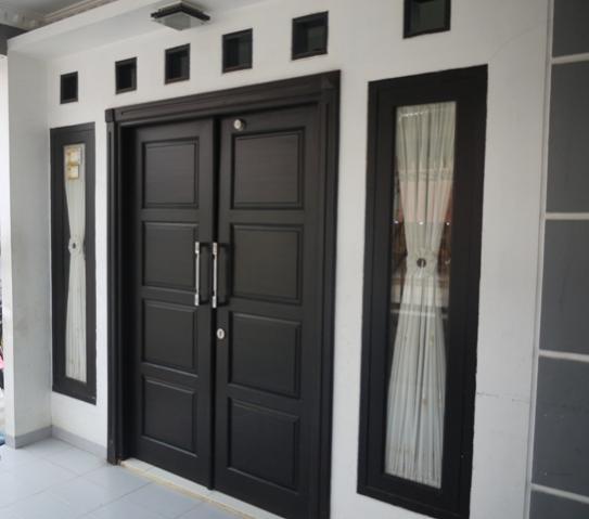 27 contoh gambar Model desain pintu minimalis kayu jati paling keren untuk rumah minimalis