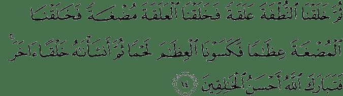 Surat Al Mu'minun ayat 14