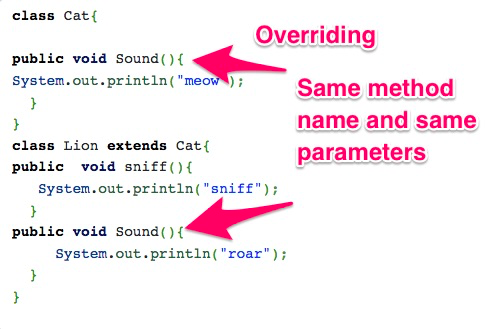 Method Overriding Example