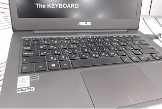 ASUS ZenBook UX305 keyboard test
