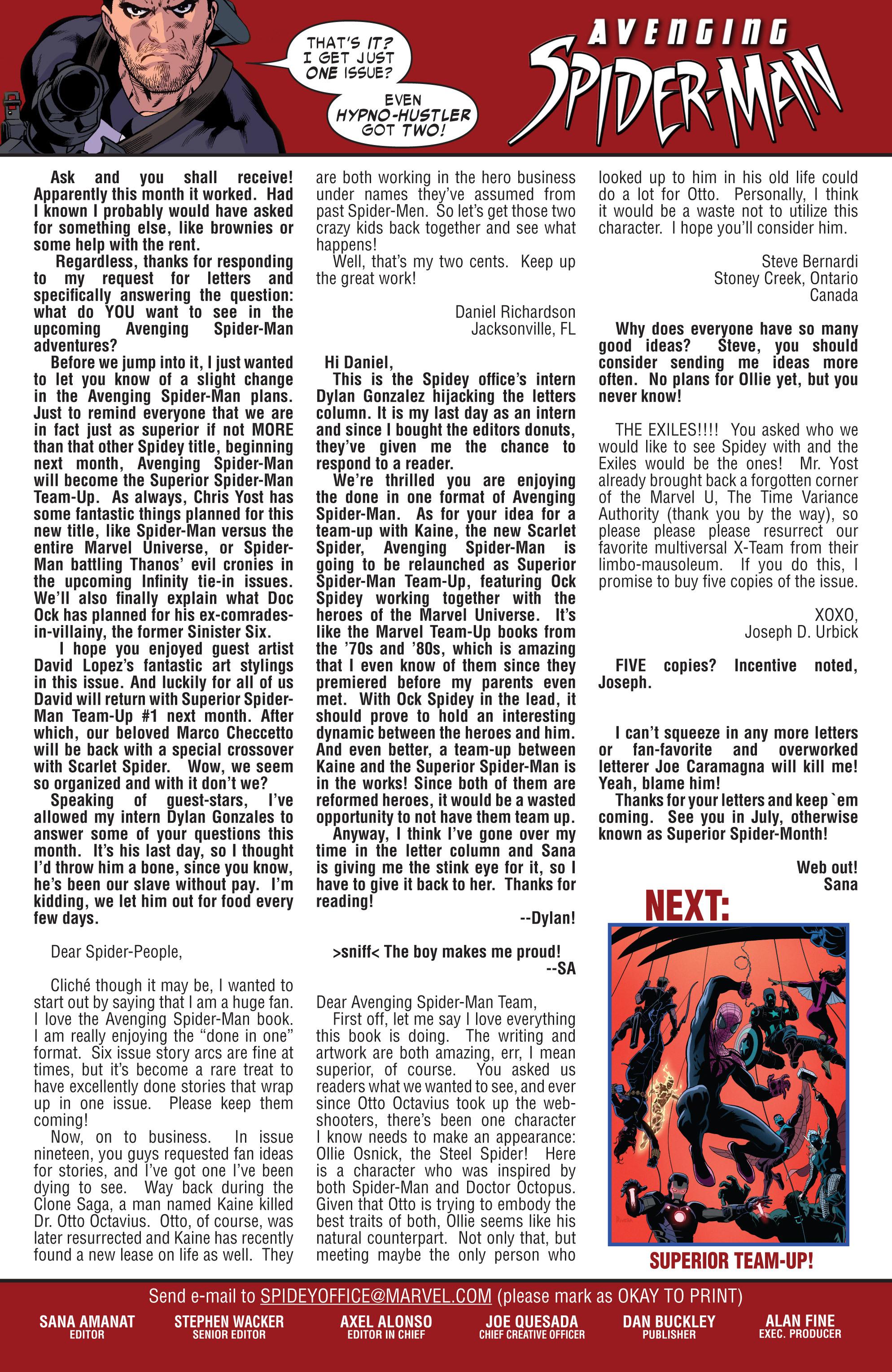 Avenging Spider-Man #23 #25 - English 23