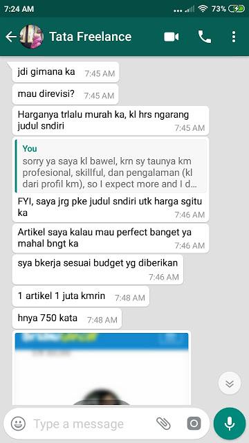 Hati2 Dgn Freelance Writer Cinta Nungky Lestari, Tidak Professional