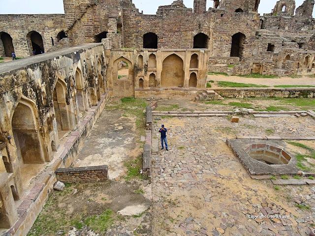 Ruined part of the Golkonda Fort, Hyderabad