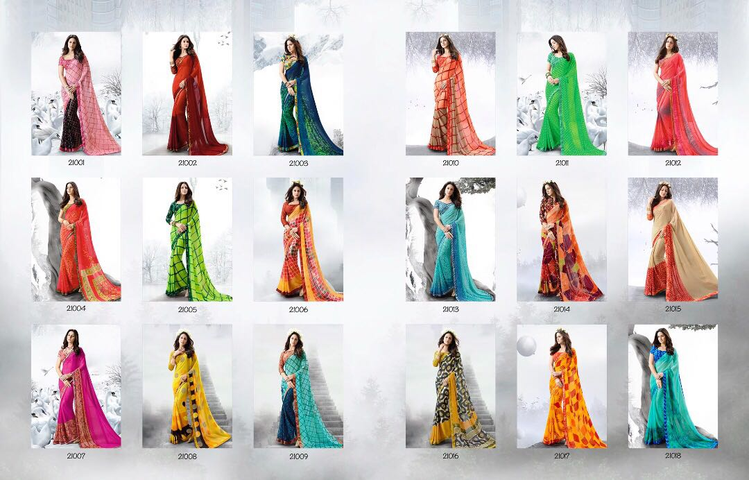 ONCE MORE-New Arrival Designer Georgette Saree For women