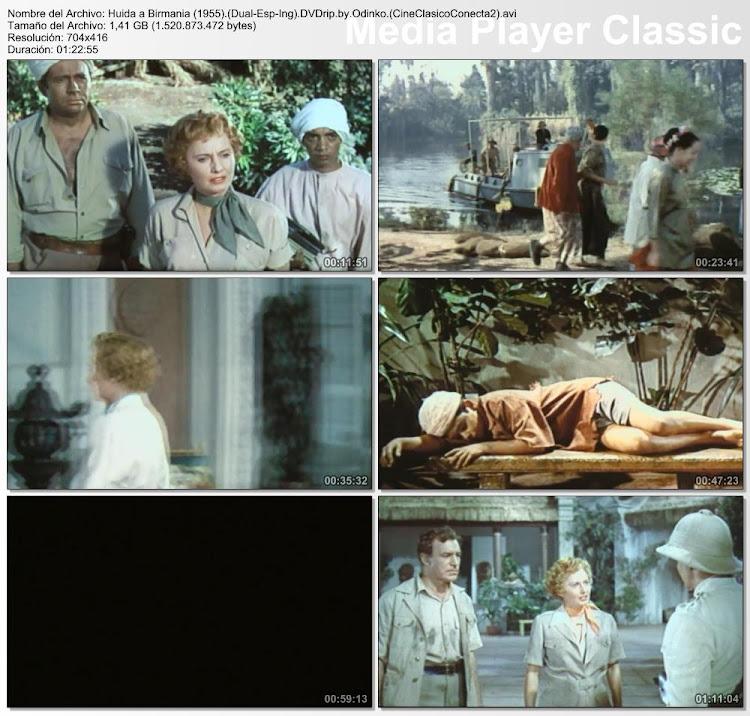 Secuencias de la película: Huida a Birmania | 1955 | Escape to Burma