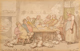 Dog Fighters Club by Thomas Rowlandson - Genre Drawings from Hermitage Museum