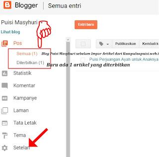 Cara Impor Konten Artikel Blog (Memindahkan Postingan Blog Lama ke Blog Baru)