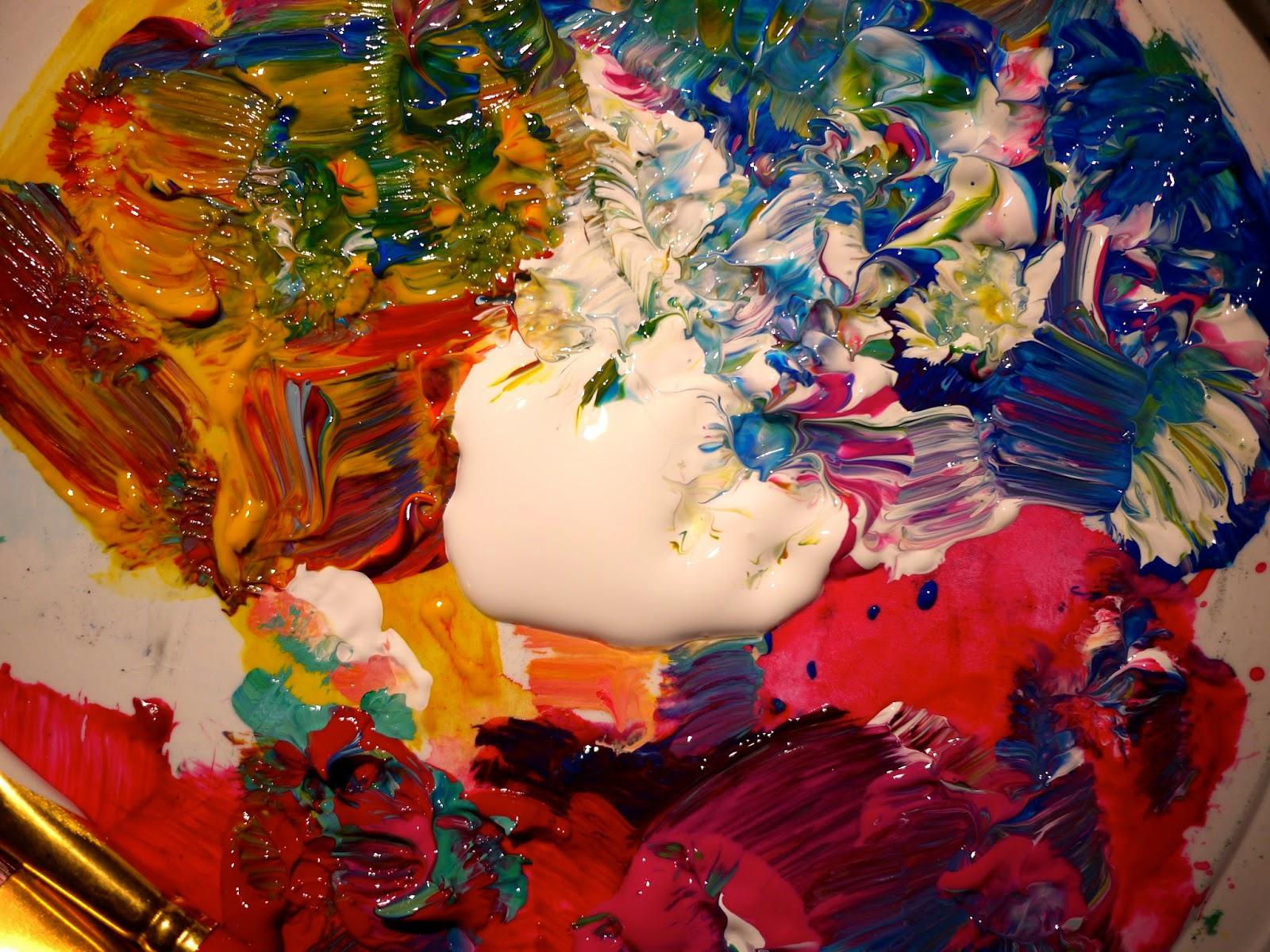 smooshing paint how - photo #31