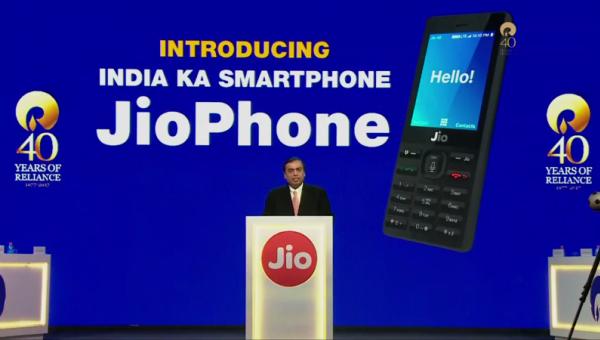 """JioPhone was introduced as """"India ka Smartphone"""