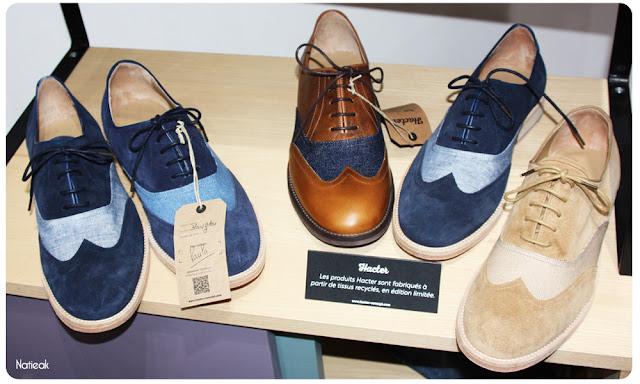 chaussures Hacter: la mode recyclée pour les hommes