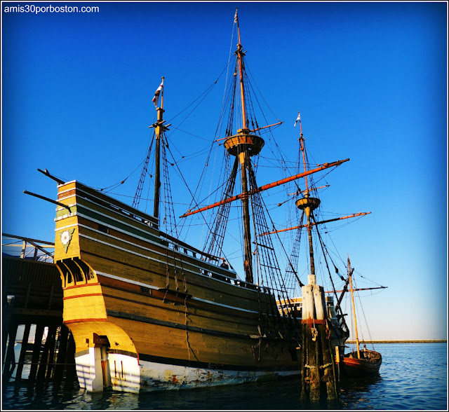 Mayflower II en el  Waterfront de Plymouth