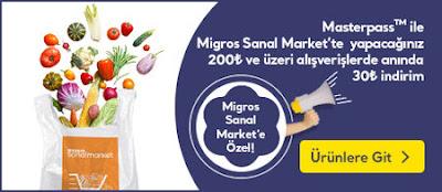 30TL Migros Sanal Market İndirimi