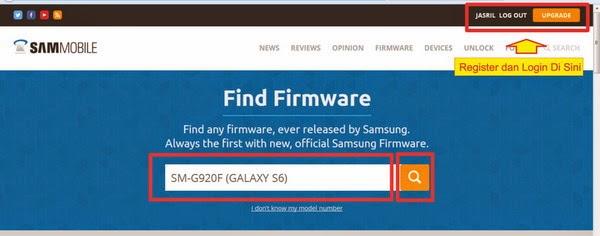Cara Download Firmware Samsung Galaxy S6 SM-G920F - Repairs Ponsel