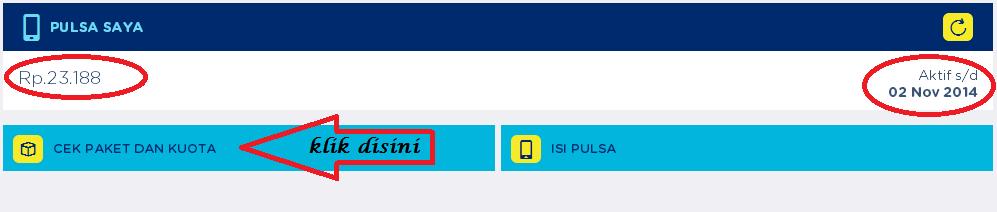 cara cek sisa kuota internet XL