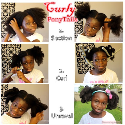All By Myself: Curly Ponytails on Natural Hair Kids