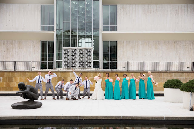 bridal party at wayne state McGregor Memorial Conference Center