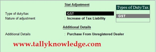 How to Create Reverse Charge Tax Liability in TallyERP.9?