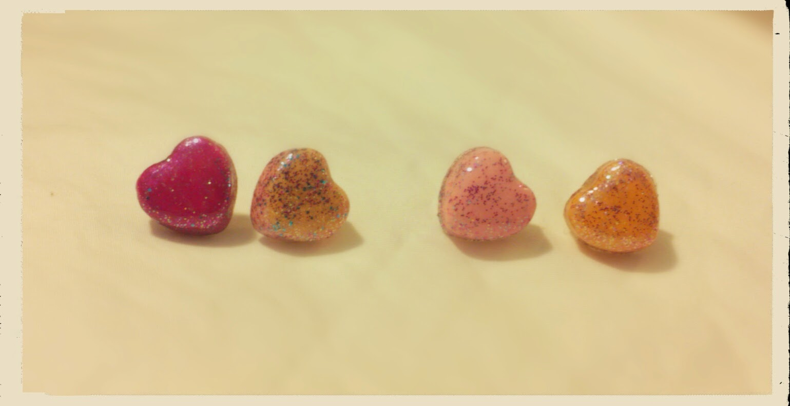 Candy Heart Stud Earrings