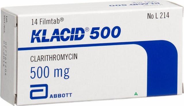 دواء كلاسيد  klacid ومادته الفعالة كلاريثرومايسين Clarithromycin