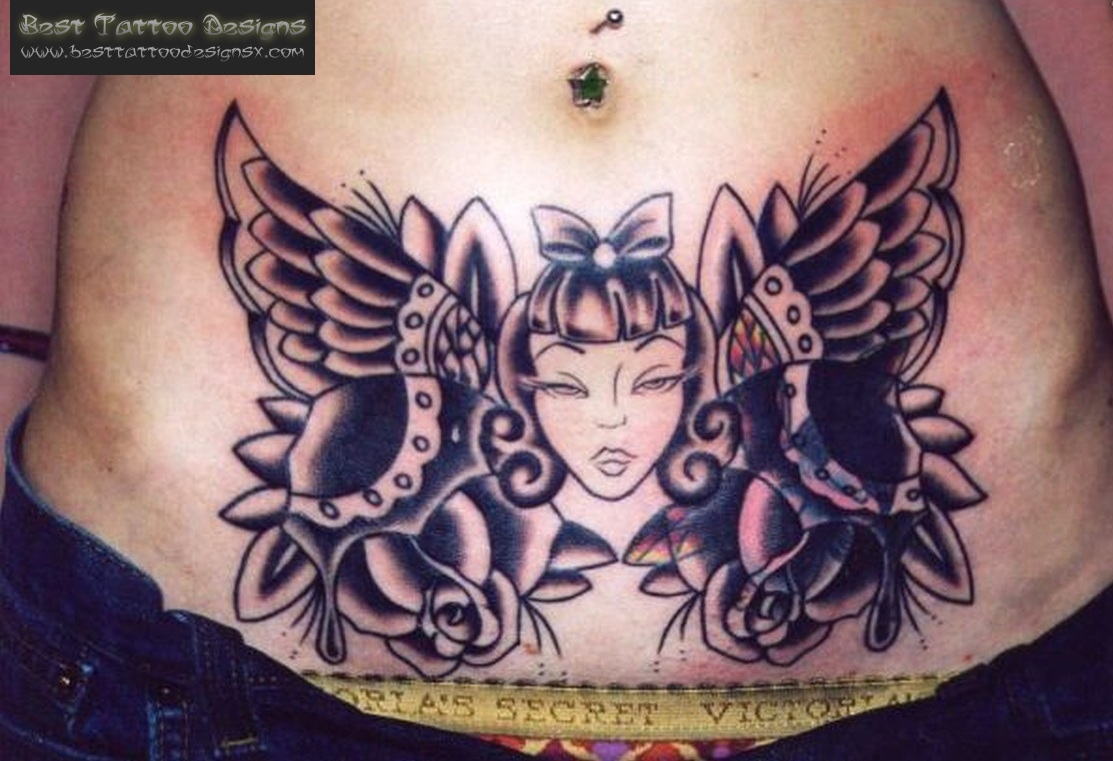 tatuajes abdomen en mujeres