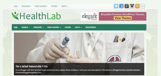 HealthLab Magazine Fitness Blogger Template