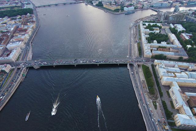 Литейный мост с воздуха