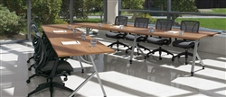 Junction V Shaped Boardroom Table Configuration by Global Total Office