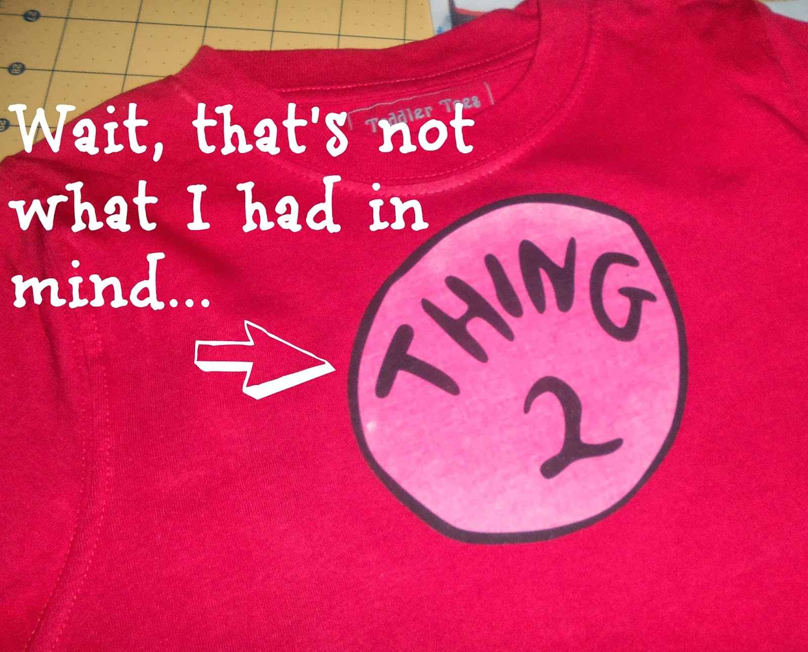Just A Little Creativity Make A No Sew Dr Seuss Shirt Thing One And Thing Two