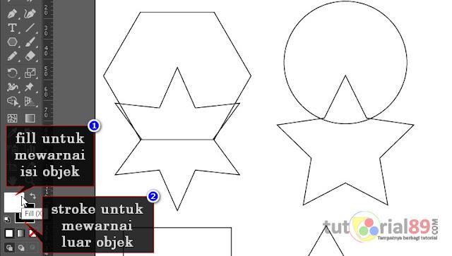 Cara mewarnai objek dengan live paint bucket di illustrator (AI) + video
