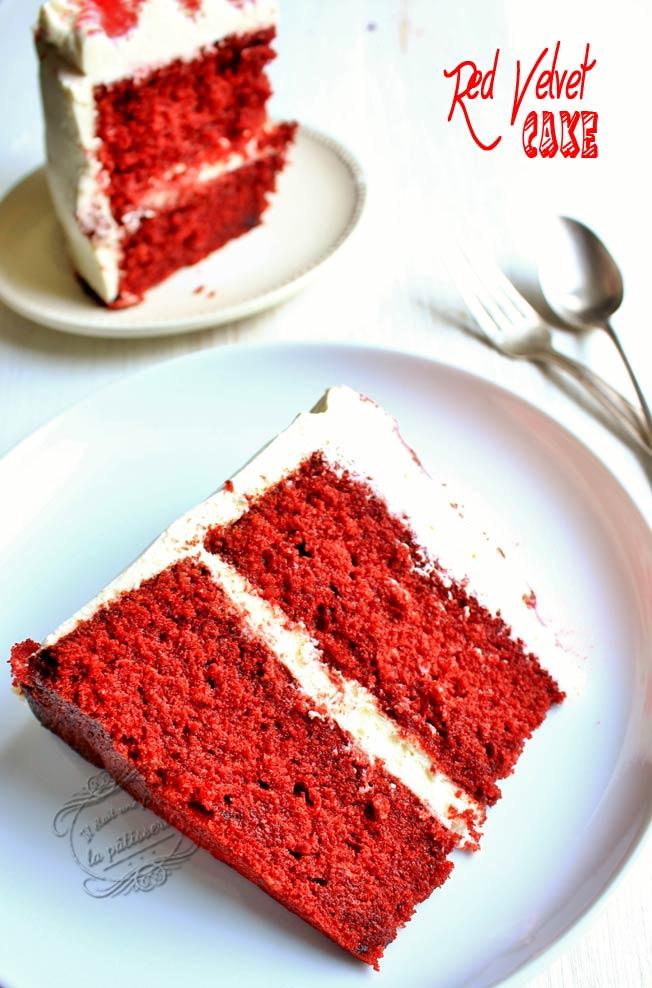 red velvert cake moelleux