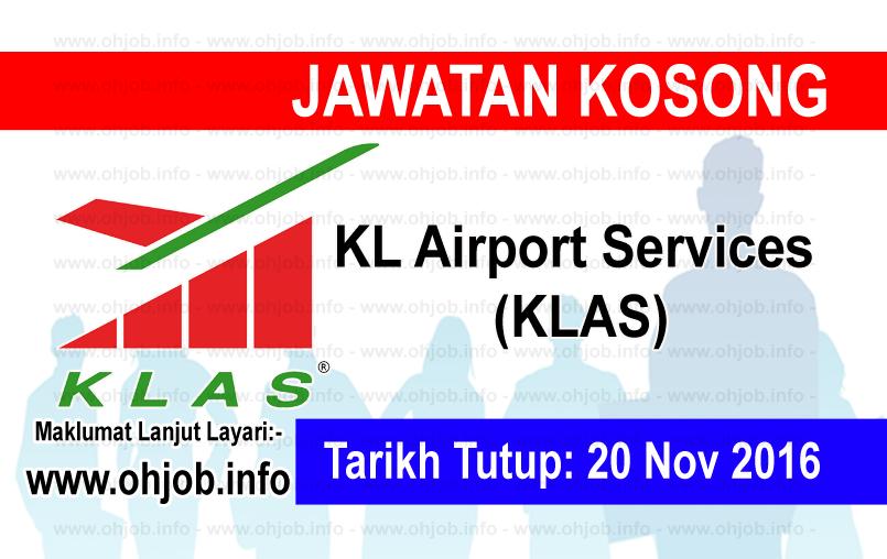 Jawatan Kerja Kosong KL Airport Services (KLAS) logo www.ohjob.info november 2016