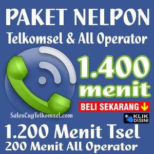 Paket Nelpon Telkomsel 1400 menit Sales CUG
