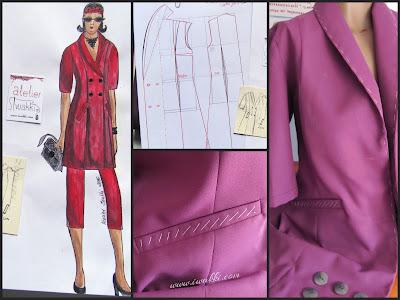 Dwurzędówka sukienka lub żakiet dla kobiety biznesu