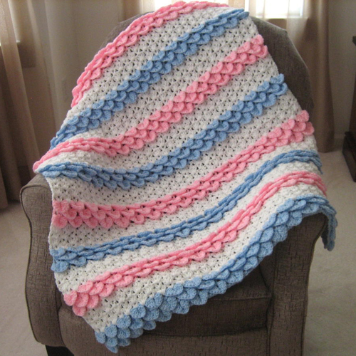 Crocodile Rock Crochet Baby Blanket - Free Pattern