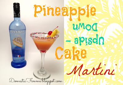 Pineapple Upside Down Cake Martini #Recipes #Recipe #Ingredient #Idea #Ideas #Ingredients #Happy #Hour #HappyHour #Drink #Drinks #Martinis #Vodka #Flavored #Flavors #Grenadine #Juice #Mixed #Brunch #Beverage #Beverages #Alcohol #Alcoholic #Adult #Sprinkles