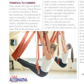 Método AeroYoga® International en Prensa, Medios, Tendencias, Deporte, ejercicio, salud, yoga, pilates, aereo, columpio