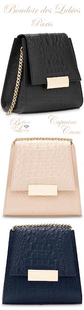 Brilliant Luxury ♦ Boudoir des Lubies Paris ~ Capucine Croco Bag