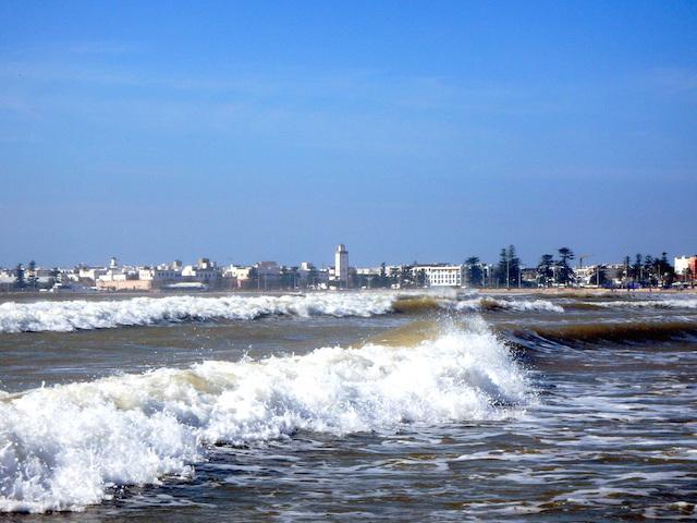 Essaouira beach, Morocco, waves.