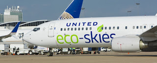 United Airlines Eco Airplane BioFuel
