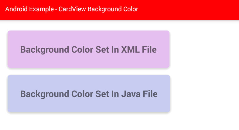 android - How to change CardView background color