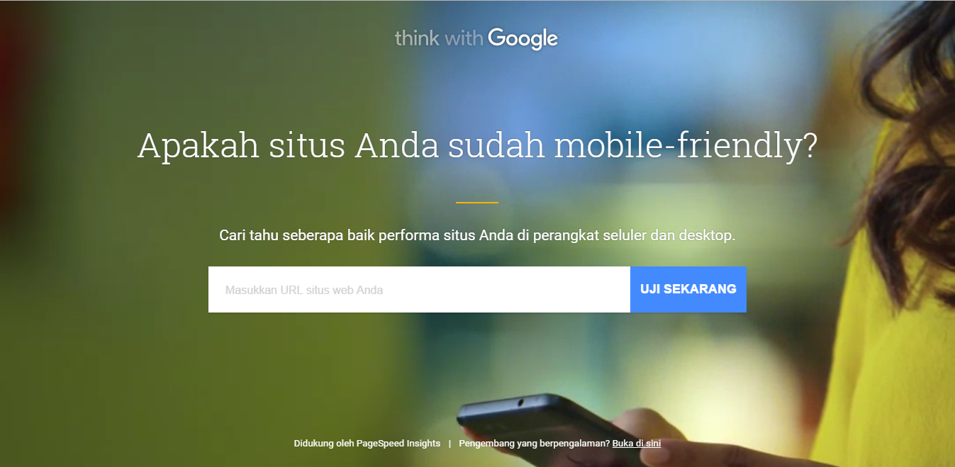 Alat uji situs mobile-friendly