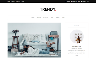 Trendy Beauty Blogger Template