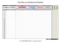 Control de asistencia Infantil primaria y secundaria  excel EDITABLES