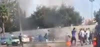 مغربي حرق راسو قدام المحكمة بمدينة  المحمدية
