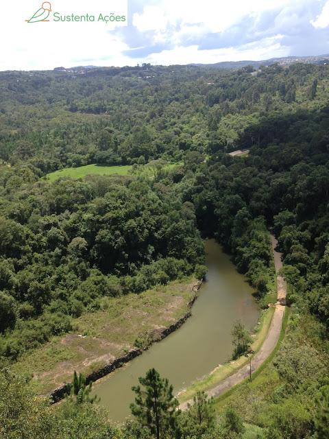 Vista da floresta no Parque Tanguá