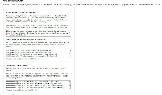 Cara Melaporkan Pencurian Artikel (Blogger Copas) ke Google DMCA