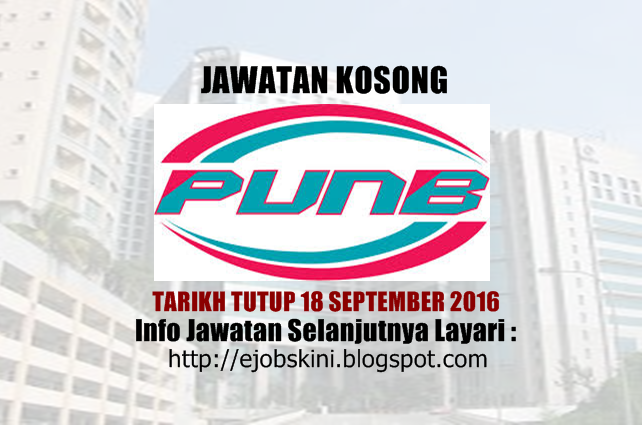 jawatan kosong di punb september 2016