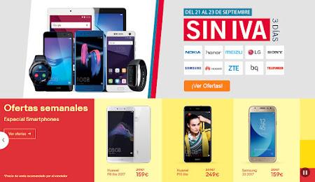 Ofertas móviles Phone House y eBay 21 de septiembre de 2017